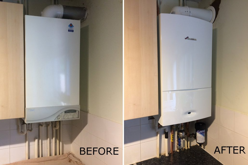 Combi Boiler Replacement - Before and After